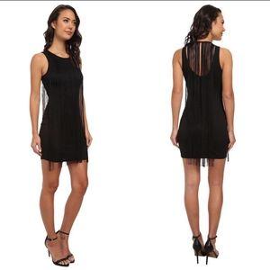 Sam Edelman Black Fringe Flapper Dress Size S